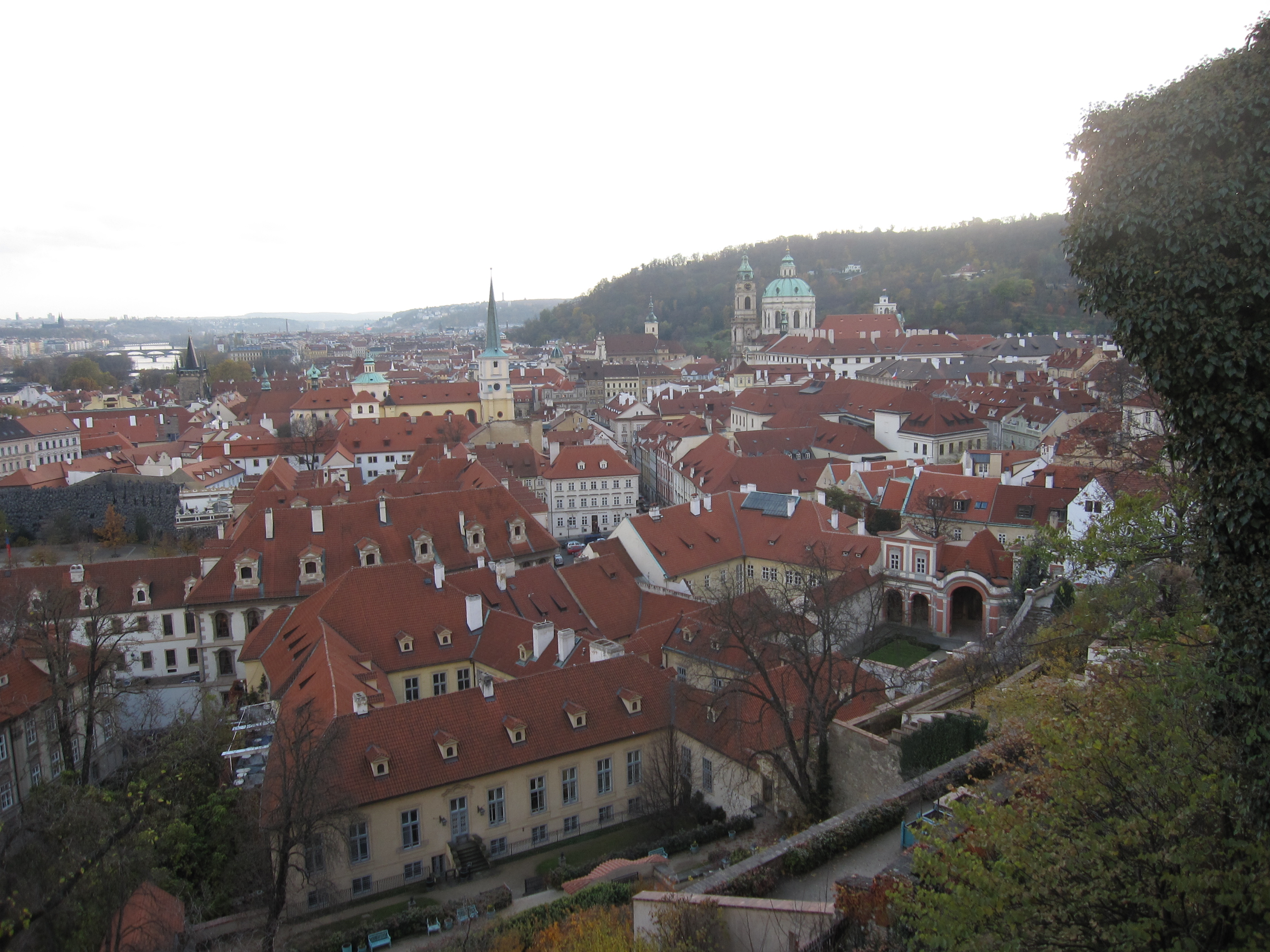 View of the town near prague castle a fart on the wall for Where is prague near